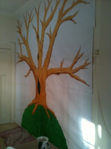 Tree painted