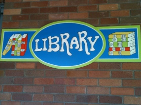 School library sign