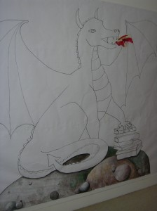 Part-painted dragon