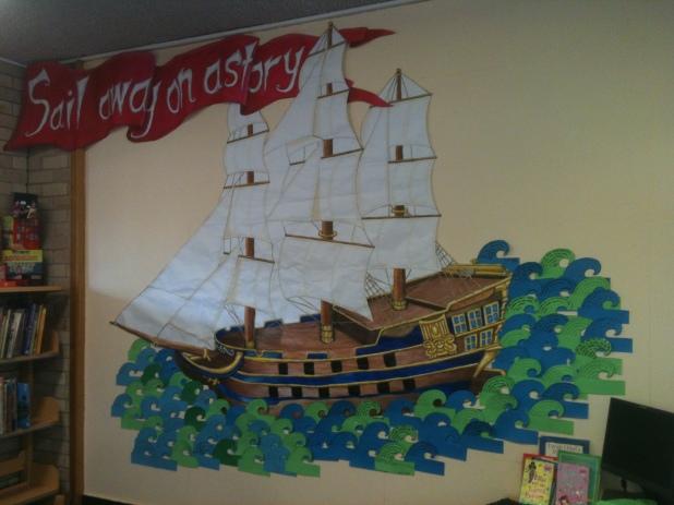 Tall Ship Mural