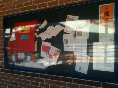Making the school noticeboard a more interesting place...