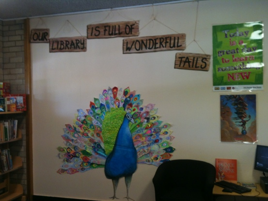 Peacock library classroom display