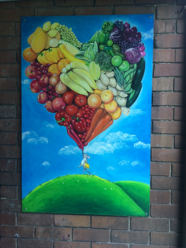 Canteen fruit painting